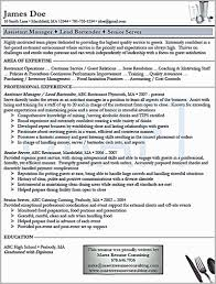 Examples Of Bartending Resumes Free Download