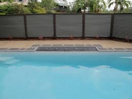 kenmore iron. stratco colorbond corrugated iron fence located in kenmore, brisbane kenmore