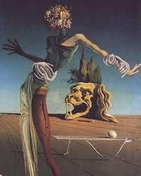 magrittee salvador dali the woman with a head of roses partial