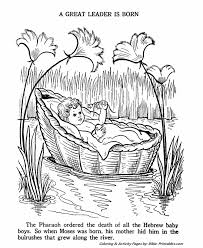 Small Picture Baby Moses Old Testament Coloring Pages Bible Printables