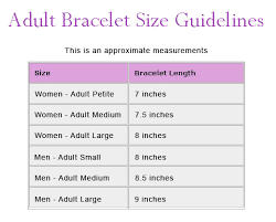 Bracelet Size Chart Men Jewelry Design Shop Bracelet Size Chart