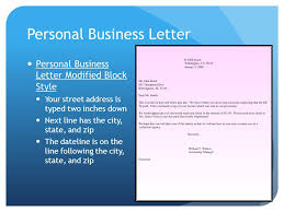 Personal Business Letter Block Style Business Correspondence Ppt Video Online Download