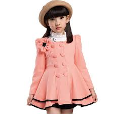 2018 high quality girl coat fashion flower jacket coat for girl autumn winter outerwear girls clothes