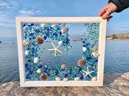 sea glass mosaic glass art