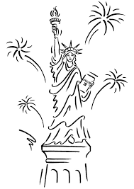 Small Picture Statue of liberty coloring pages with fireworks ColoringStar