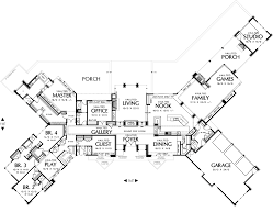 Keswick   Bedrooms and Baths   The House DesignersFirst Floor Plan