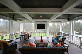 maryland screen porch coffered ceiling