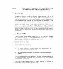 Construction Joint Venture Agreement Template Pdf Sample