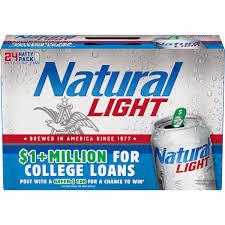 Pack Of Natty Light Natural Light Beer 24 Pack 12 Fl Oz Cans Walmart Com