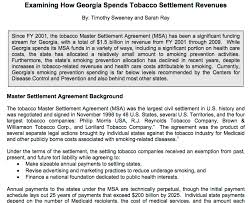 Master Settlement Agreement Beauteous USDOJ Tobacco Lawsuits And Settlements Just AFirst 48Footnote To