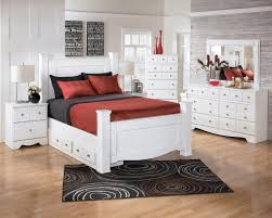 shay bedroom set. signature design by ashley weeki contemporary queen poster bed - wayside furniture headboard \u0026 footboard shay bedroom set e