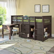 bedroomastonishing solid wood office. Bedroom : Astonishing Interior Brown Wooden Storage Under Bunk Bed For Small Space Near Simple Desk Study With Ideas Closet Plus Bedroomastonishing Solid Wood Office