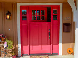 red double front doors. Exellent Red Entry Door With Double Fold Style In Single Shaping On Red Front Doors A