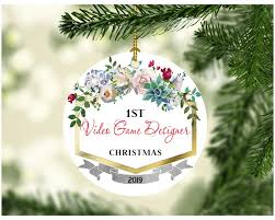 Designer Christmas Gift Ideas Amazon Com First Christmas Ornaments 2019 Video Game