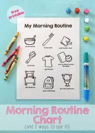 Printable Morning Routine Chart Mama Papa Bubba