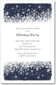 White Christmas Invitations Midnight Snowflakes Holiday Invitations Christmas And Holiday