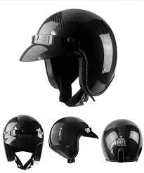 Voss Open Face Half Motorcycle Helmet Carbon Fiber Ultralight Shell Vintage Retro Moto Helmets Matte Color Casco M L Cheap Full Face Motorcycle