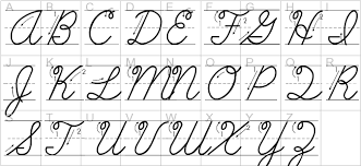 Capital And Lowercase Cursive Letters Chart The Alphabet In Cursive Lowercase