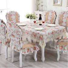 elegant dining room table cloths. european tablecloth chari cover set lace elegant print dining table cloth quilted cushion backrest home decoration-in tablecloths from room cloths o