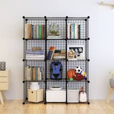 tespo metal wire storage cubes modular shelving grids diy closet organization