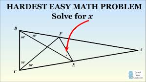 the hardest easy geometry problem sunday puzzle mind your  the hardest easy geometry problem sunday puzzle