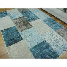 modern rugs multi style patch boxes blue