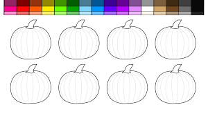 Small Picture Learn Colors for Kids and Halloween Pumpkin Patch Coloring Pages