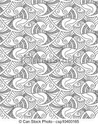 Fish Pattern New Seamless Vector Fish Patterns Editable And Scalable Vector Fish