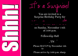 023 Template Ideas Free Printable Surprise Party Invitation