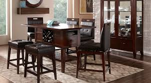 11 dining table rooms to go julian place chocolate 5 pc counter height dining room