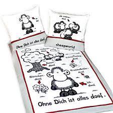 Sheepworld Bettwäsche Ohne Dich Ist Alles Doof Amazonde Küche