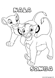 Small Picture for kids lion king simba and nala3d97 Coloring pages Printable