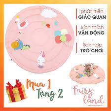 Thảm chơi cho bé HÀNG CAO CẤP giúp phát triển giác quan chủ đề Công chúa  thỏ, đồ chơi bé sơ sinh Pupei tại Hà Nội