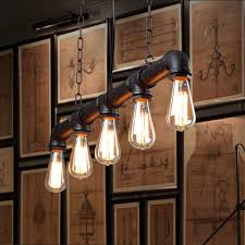 industrial dining room lighting. water pipe vintage pendant lights for dining room bar rust red color home decoration american industrial lighting i