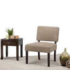 Slipper Chair Simpli Home Virginia Tan Check Fabric Slipper Chair Axcchr 005 2