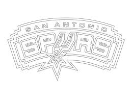 Small Picture San Antonio Spurs logo NBA coloring pages Sports Coloring Pages