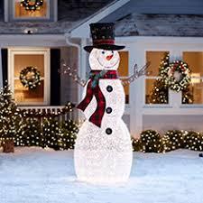 Outdoor Snowman Decorations