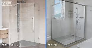 framed vs frameless glass shower doors