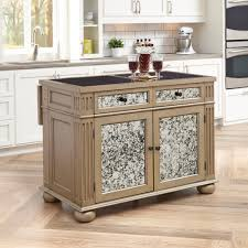 Kitchen Island Home Styles Visions Silver Gold Champagne Kitchen Island With