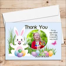 Thank You Easter 10 Personalised Girls Boys Easter Egg Thank You Photo Post Cards N6