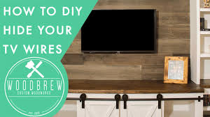 Hide Your TV Wires With This Simple Hack In 30min!   Woodbrew
