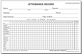 Sample Attendance Tracking Impressive Employee Attendance Calendar 44Employee Attendance Tracker