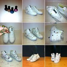 Diy Shoes Design Step By Step Girls Diy Color Splashing Style Kickers Konkrete