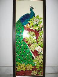 permalink to awesome glass painting designs for wall hanging ideas