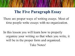the five paragraph essay ppt video online  the five paragraph essay