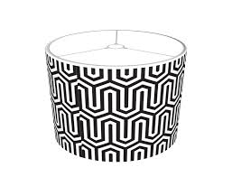 egyptian black and white pattern lamp shades
