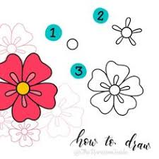 Small Picture How to draw an easy flower Kids Drawing Pinterest Flower