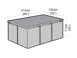 6 seater rectangular cube set cover