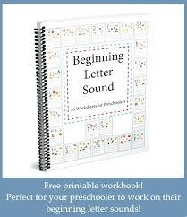 Beginning Letter Sounds Worksheets Sound Workbook 1 Free For ...