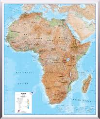 Maps International Physical Map Of Africa Regio